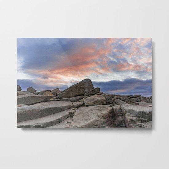 Granite Sunset Metal Print