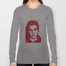 Elvis in Dogtooth Long Sleeve T-shirt