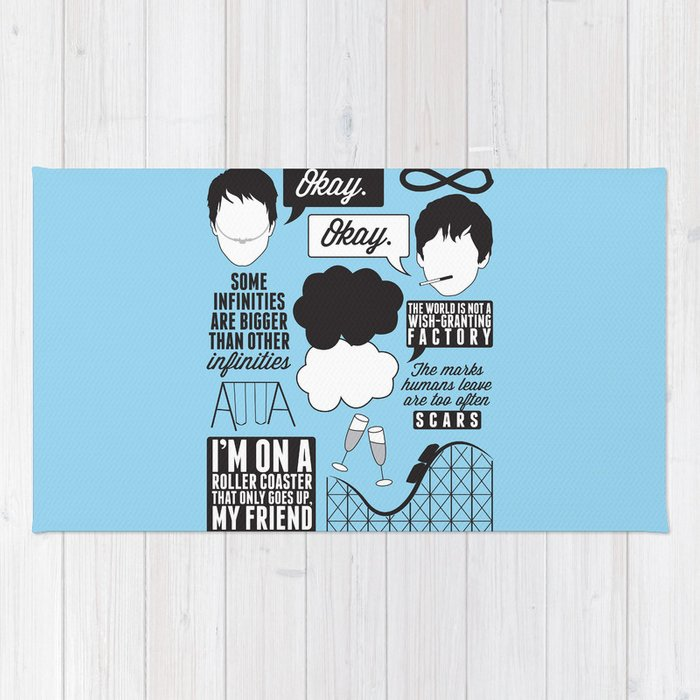 The Fault In Our Stars Collage Rug
