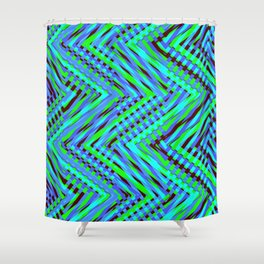 Chevron Blue Shower Curtain