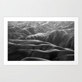 Endless Valleys (Black and White) Art Print