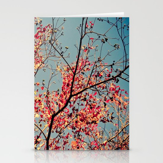 Autumn Branch & Leaves Stationery Cards