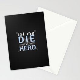 Die A Hero Stationery Cards