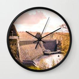 Möhne Reservoir Barrage Wall Sauerland Germany bright Wall Clock