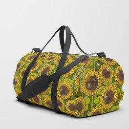 Sunflower Field Duffle Bag