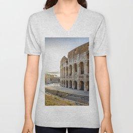 The Colosseum of Rome Unisex V-Neck