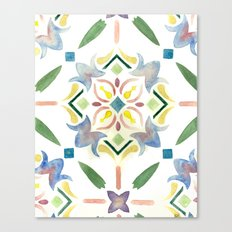 Repeating Floral Pattern Canvas Print