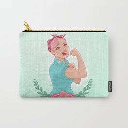 Pink Rosie Carry-All Pouch