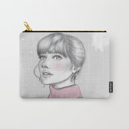 Pink Sweater Carry-All Pouch