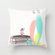 Gazelles Make Bad Friends Throw Pillow
