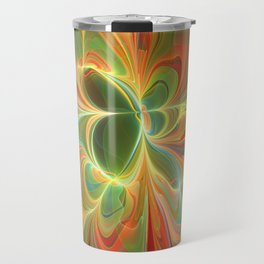 With a lot of Red, Abstract Art Travel Mug