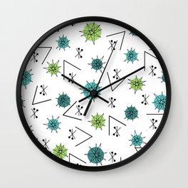 Mid Century Modern Sputnik Starburst Planets 9 Wall Clock