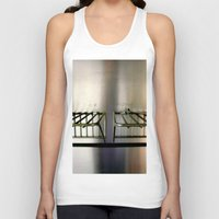 metal Tank Tops featuring Metal On Metal by oneofacard