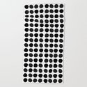 Black and white minimal paint brush painterly dots polka dots minimal modern dorm college painting by charlottewinter