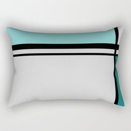 Cross Lines in turquoises Rectangular Pillow