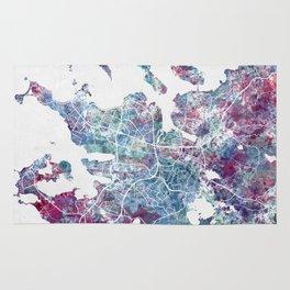 Reykjavik map Rug