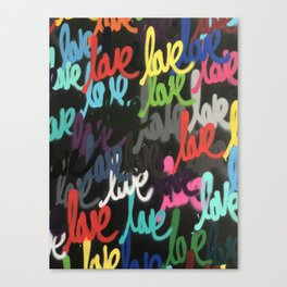 Love Black Series Canvas Print