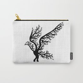 bird tree t-shirt birds nature forest lover Carry-All Pouch