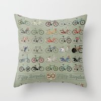 bicycle Throw Pillows featuring Bicycle by Wyatt Design