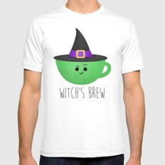 Witch's Brew Mens Fitted Tee MEDIUM White