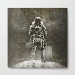 Space Traveller sepia Metal Print