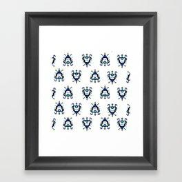 Alien Ship - Pattern Framed Art Print