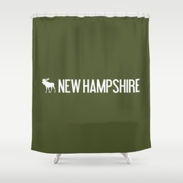 New Hampshire Moose Shower Curtain