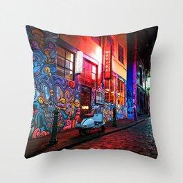 Evening in Hosier Lane Throw Pillow
