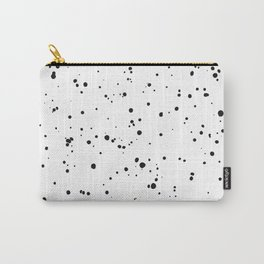 Black & White Ink Spots Dots Drops Speckles Carry-All Pouch