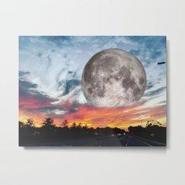 Supermoon Sunset Florida Metal Print