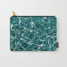 SEA - blue , white ocean , waves , clear , clarity Carry-All Pouch