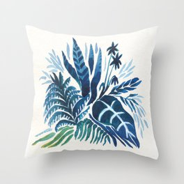 In the garden Throw Pillow