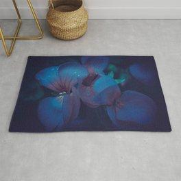 Indigo Floral Rug