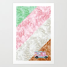 Ice Stripes Art Print