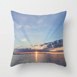 A Seattle Sunset Throw Pillow