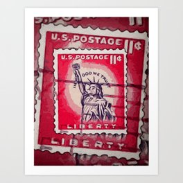 Stamp of Liberty Art Print