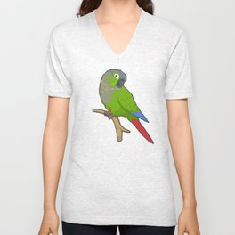Pixel / 8-bit Parrot: Green-cheek Conure Unisex V-Neck