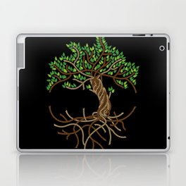 Rope Tree of Life. Rope Dojo 2017 black background Laptop & iPad Skin
