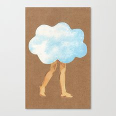 Cloud Girl Canvas Print