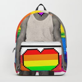 Vintage gay pride couple Backpack