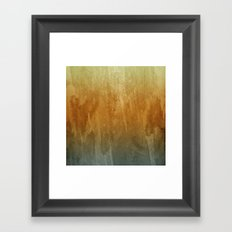 Earthy Water Color Abstract Framed Art Print