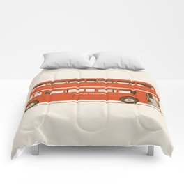 Red London Bus Comforters