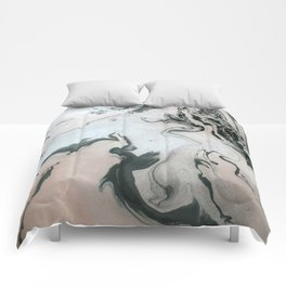 Abstract marble effect painting Comforters