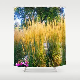 Feather Reeds Shower Curtain