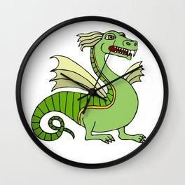 Green Chinese Dragon Wall Clock