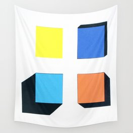 Squares in cross Wall Tapestry