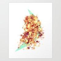 jennifer lawrence Art Prints featuring Jennifer Lawrence by Rene Alberto