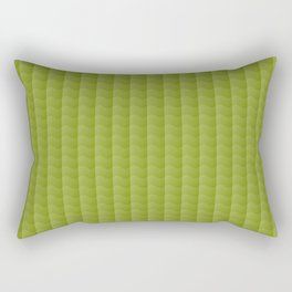 Olive Green Smooth Ripples Rectangular Pillow