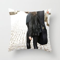 Walking Throw Pillow