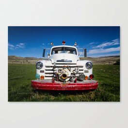 Old Fire Engine Canvas Print